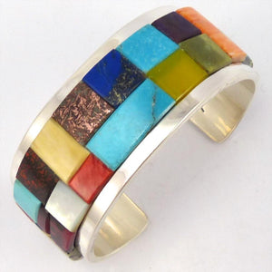 Colorful Inlay Cuff, Tommy Jackson, Jewelry, Garland's Indian Jewelry