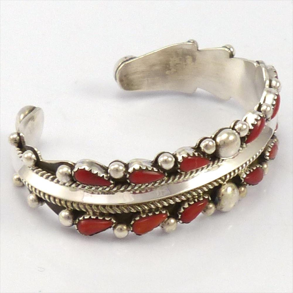 Coral Cuff, Billy Betoney, Jewelry, Garland's Indian Jewelry