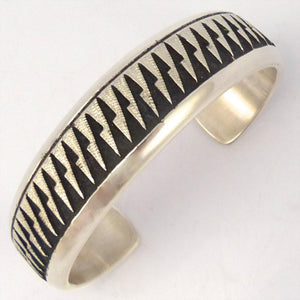 Silver Overlay Cuff, Dan Jackson, Jewelry, Garland's Indian Jewelry