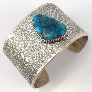 Kingman Turquosie Cuff, Boyd Tsosie, Jewelry, Garland's Indian Jewelry