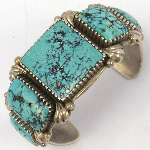 1980s Indian Mountain Turquoise Cuff