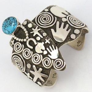 Kingman Turquoise Cuff, Alex Sanchez, Jewelry, Garland's Indian Jewelry
