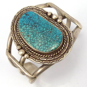 Lone Mountain Turquoise Cuff, Michael Carrol, Jewelry, Garland's Indian Jewelry