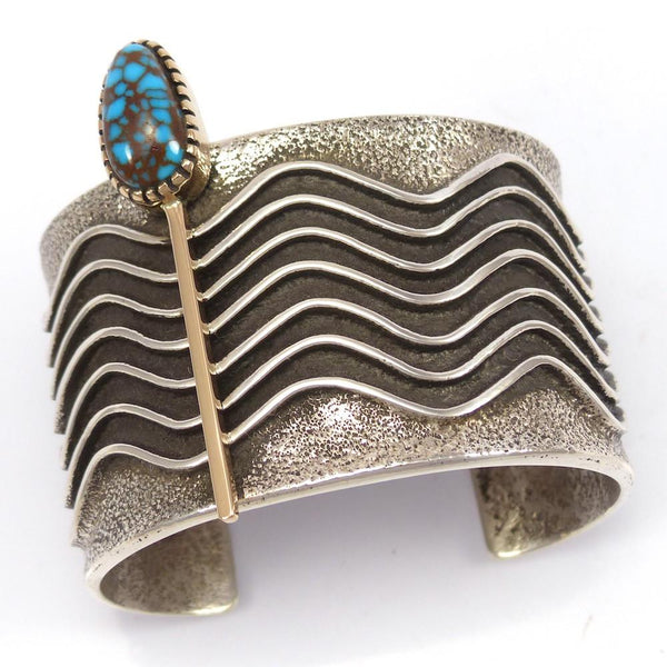 Candelaria Turquoise Cuff, Edison Cummings, Jewelry, Garland's Indian Jewelry