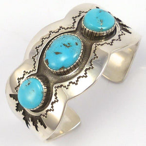 Lone Mountain Turquoise Cuff, Dina Huntinghorse, Jewelry, Garland's Indian Jewelry