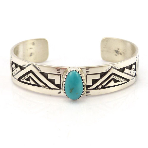 Kingman Turquoise Cuff, Peter Nelson, Jewelry, Garland's Indian Jewelry
