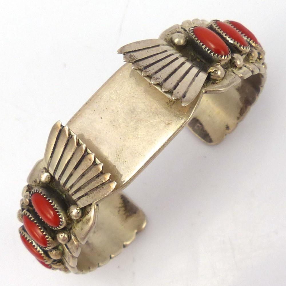 1970s Coral Watch Cuff, Tim Kee Whitman, Jewelry, Garland's Indian Jewelry