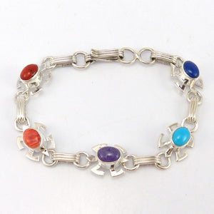 Multi-Stone Link Bracelet, Paulson Thomas, Jewelry, Garland's Indian Jewelry