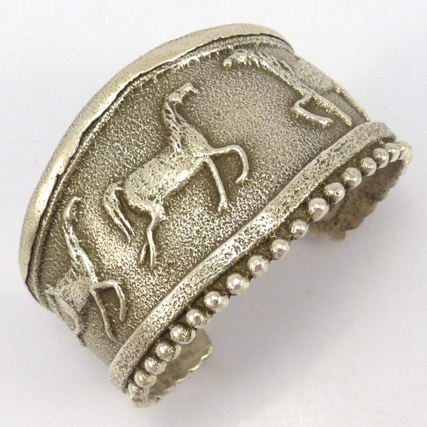 Cast Horse Cuff, Anthony Lovato, Jewelry, Garland's Indian Jewelry
