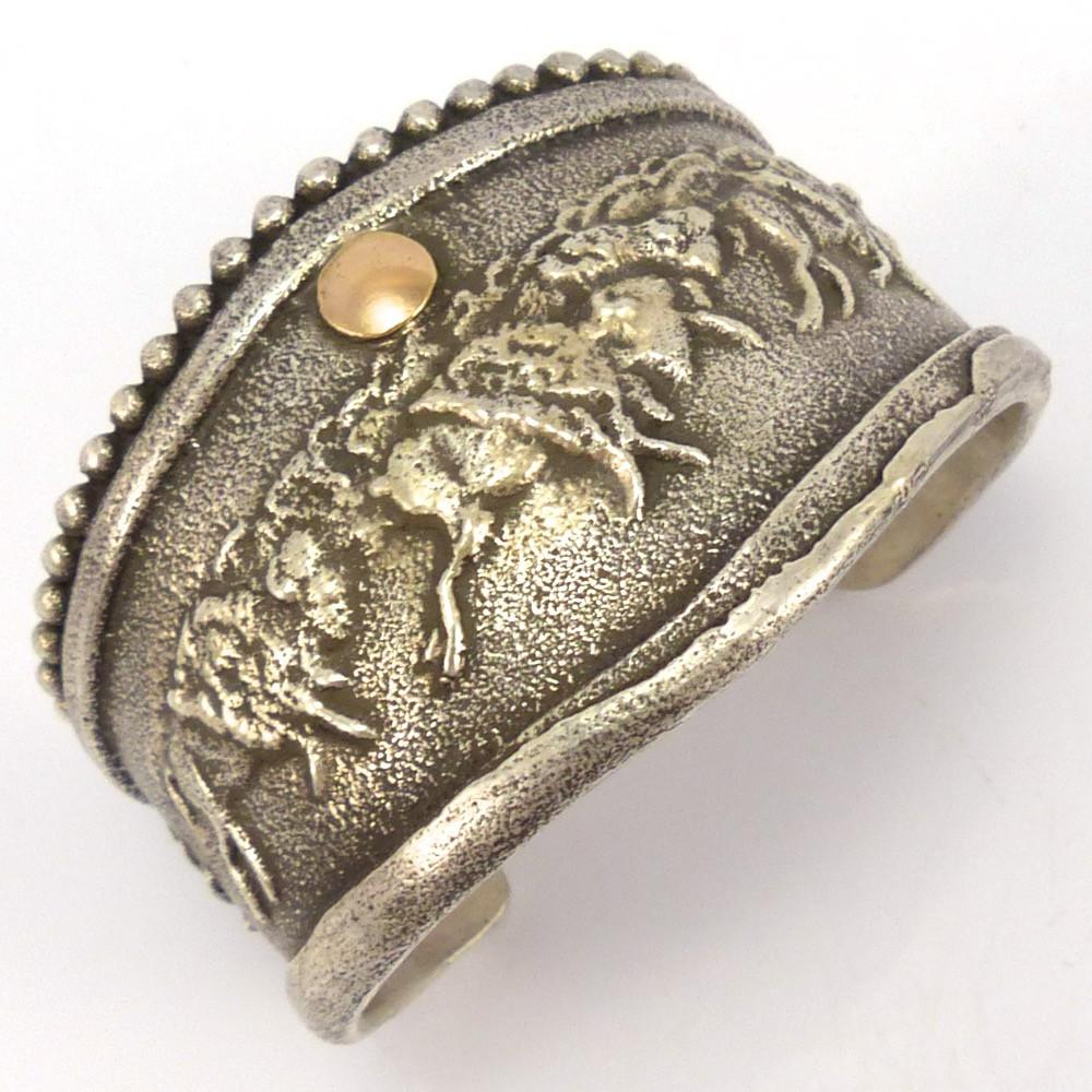 Buffalo Run Cuff, Anthony Lovato, Jewelry, Garland's Indian Jewelry