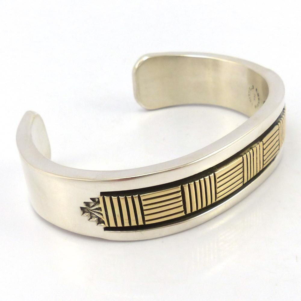 Gold on Silver Cuff, Bruce Morgan, Jewelry, Garland's Indian Jewelry