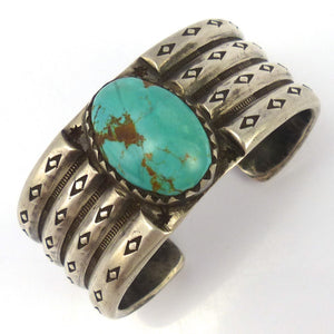Royston Turquoise Cuff, Jock Favour, Jewelry, Garland's Indian Jewelry