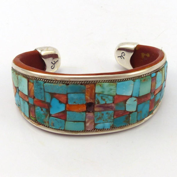 Turquoise and Shell Cuff