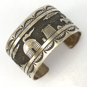 1980s Navajo Storyteller Cuff, Richard Begay, Jewelry, Garland's Indian Jewelry