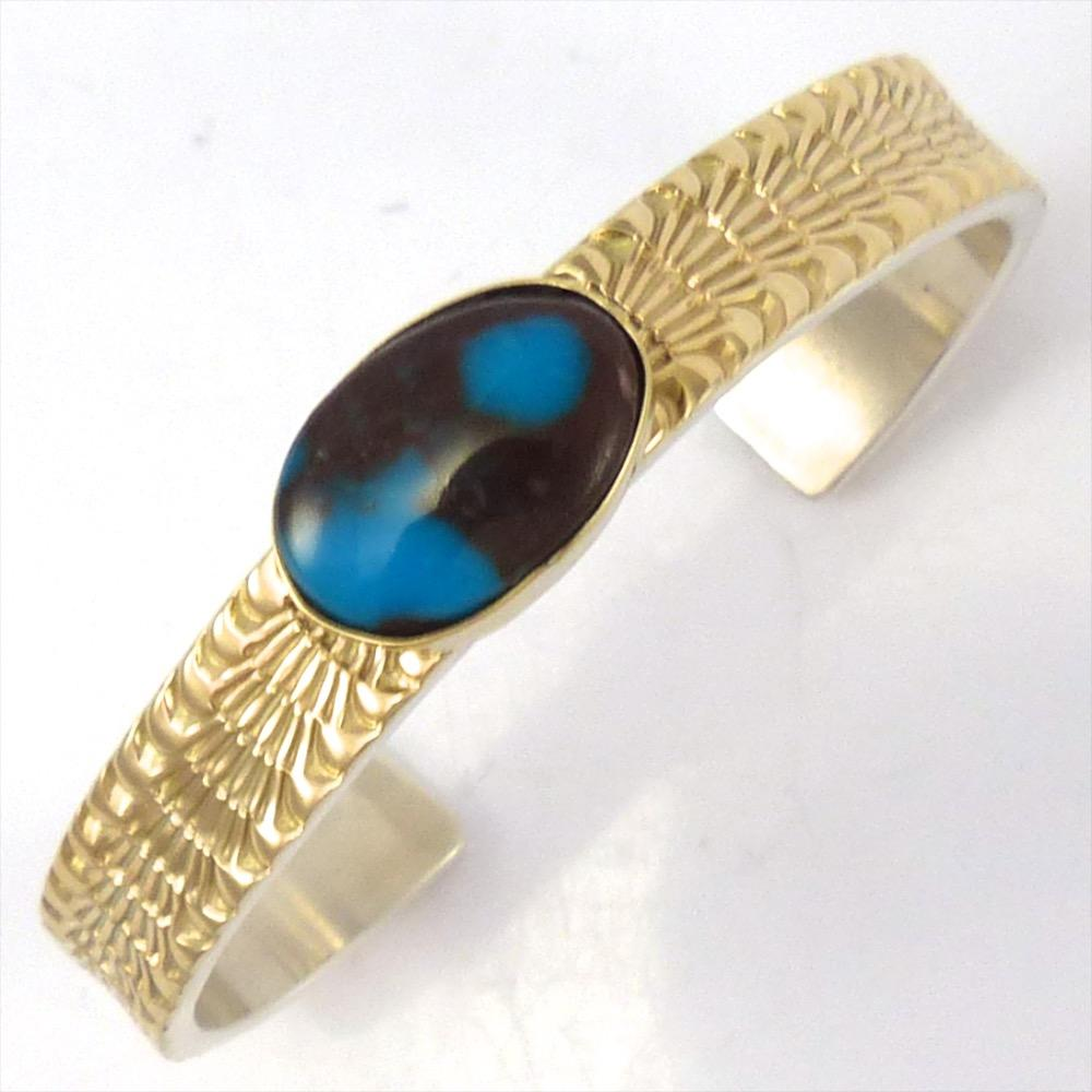 Bisbee Turquoise Cuff, Marc Antia, Jewelry, Garland's Indian Jewelry