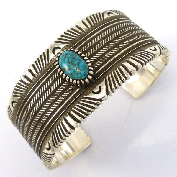 Lone Mountain Turquoise Cuff, Ron Bedonie, Jewelry, Garland's Indian Jewelry