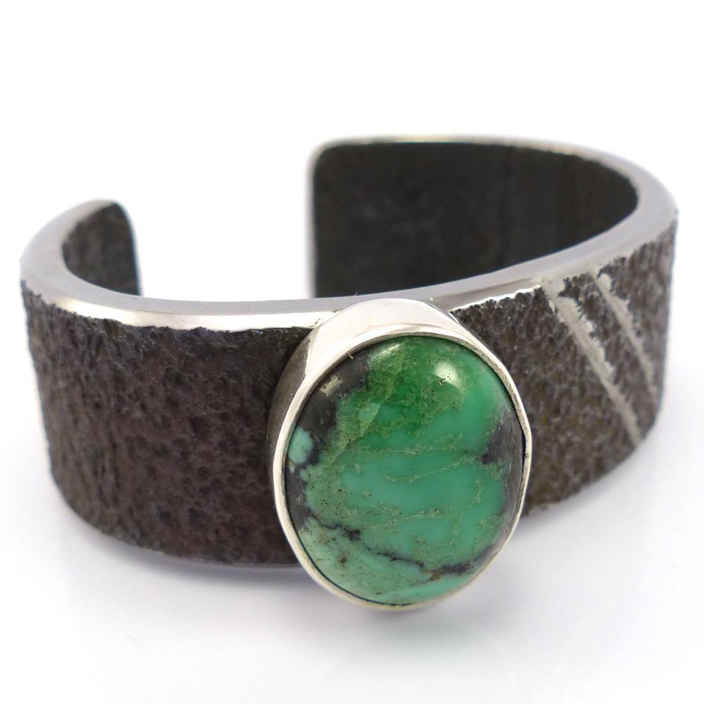 Turquoise and Steel Cuff