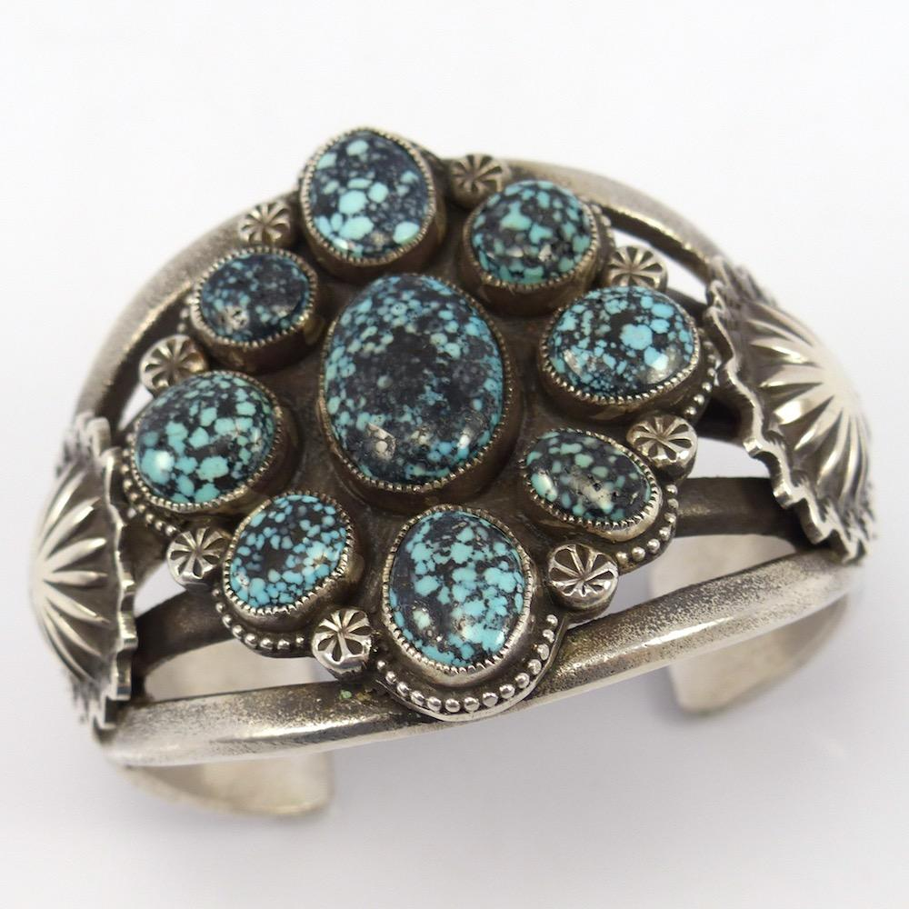 Kingman Turquoise Cuff, Matthew Charley, Jewelry, Garland's Indian Jewelry