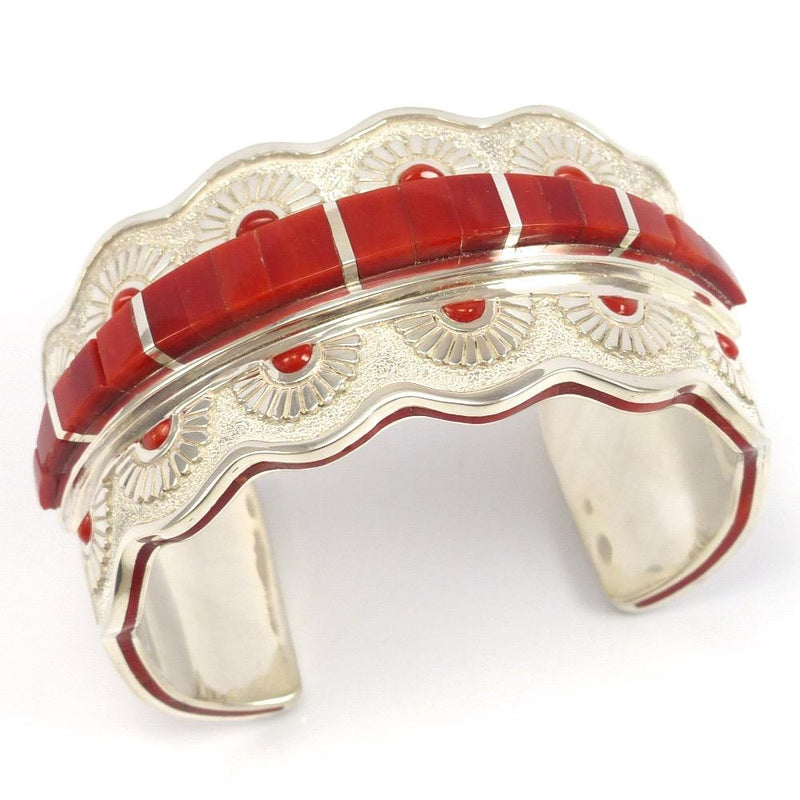 Coral Cuff, Michael Perry, Jewelry, Garland's Indian Jewelry