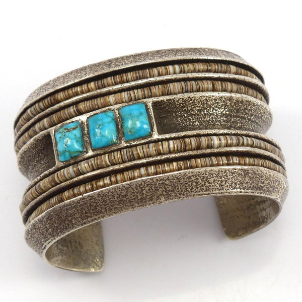 Turquoise and Pen Shell Cuff