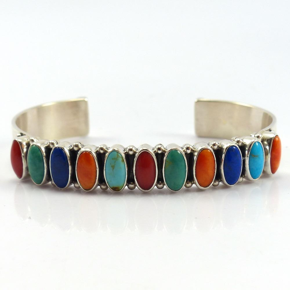 Multi-Stone Cuff, Dee Nez, Jewelry, Garland's Indian Jewelry