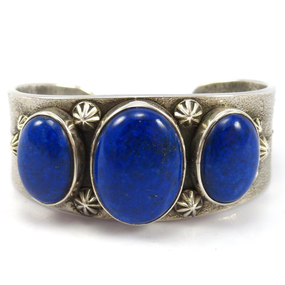 Lapis Cuff, Noah Pfeffer, Jewelry, Garland's Indian Jewelry