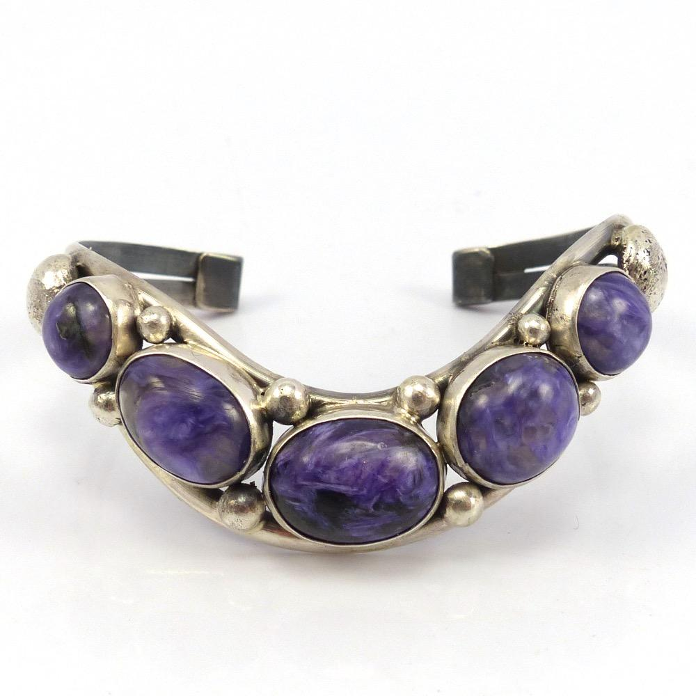 Charoite Cuff, David Lister, Jewelry, Garland's Indian Jewelry