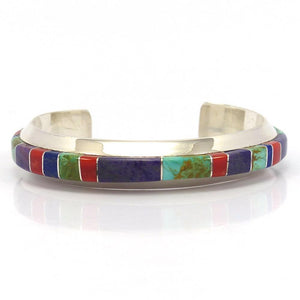 Channel Inlay Cuff, Wes Willie, Jewelry, Garland's Indian Jewelry