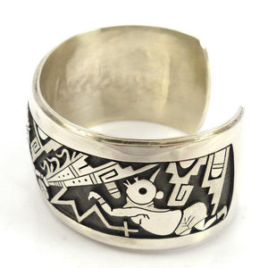 """Praying for Rain"" Cuff, Berra Tawahongva, Jewelry, Garland's Indian Jewelry"
