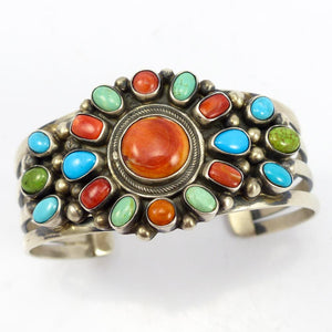 Spiny Oyster and Turquoise Cuff