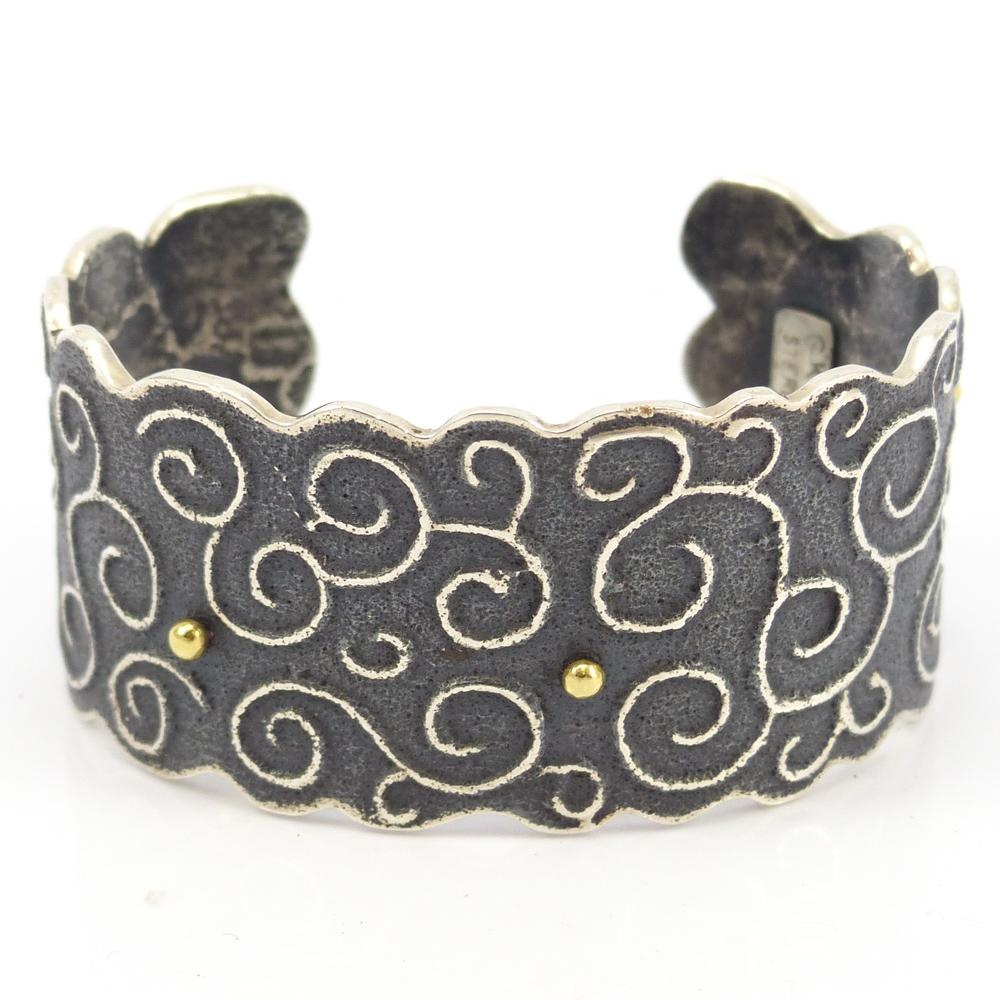 Gold and Silver Cuff