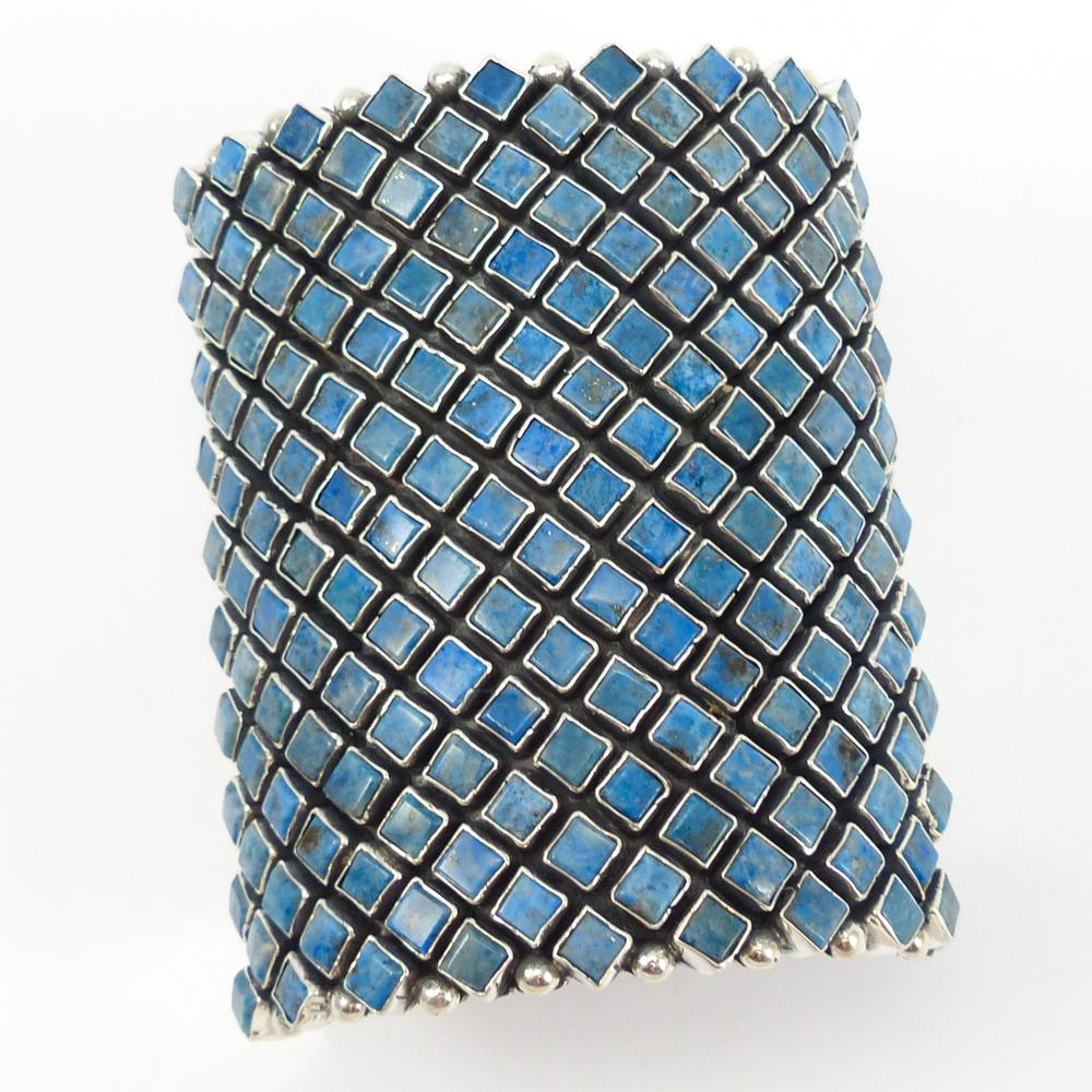 Denim Lapis Row Cuff