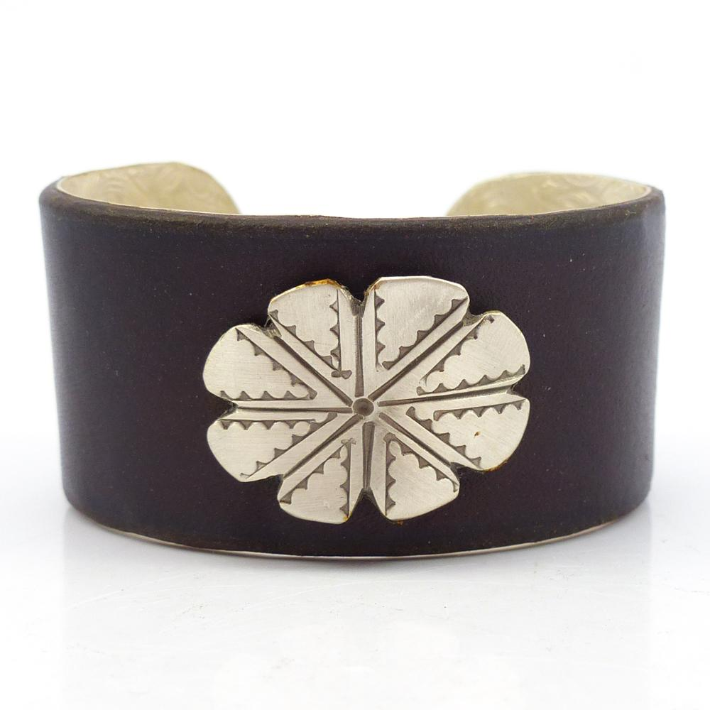 Leather and Silver Cuff