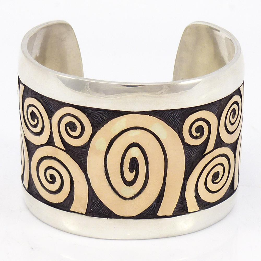 Gold on Silver Migration Cuff