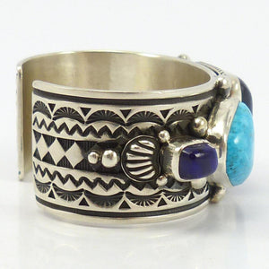 Morenci Turquoise and Sugilite Cuff