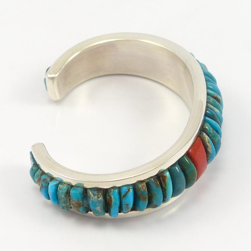 Fox Turquoise and Coral Cuff