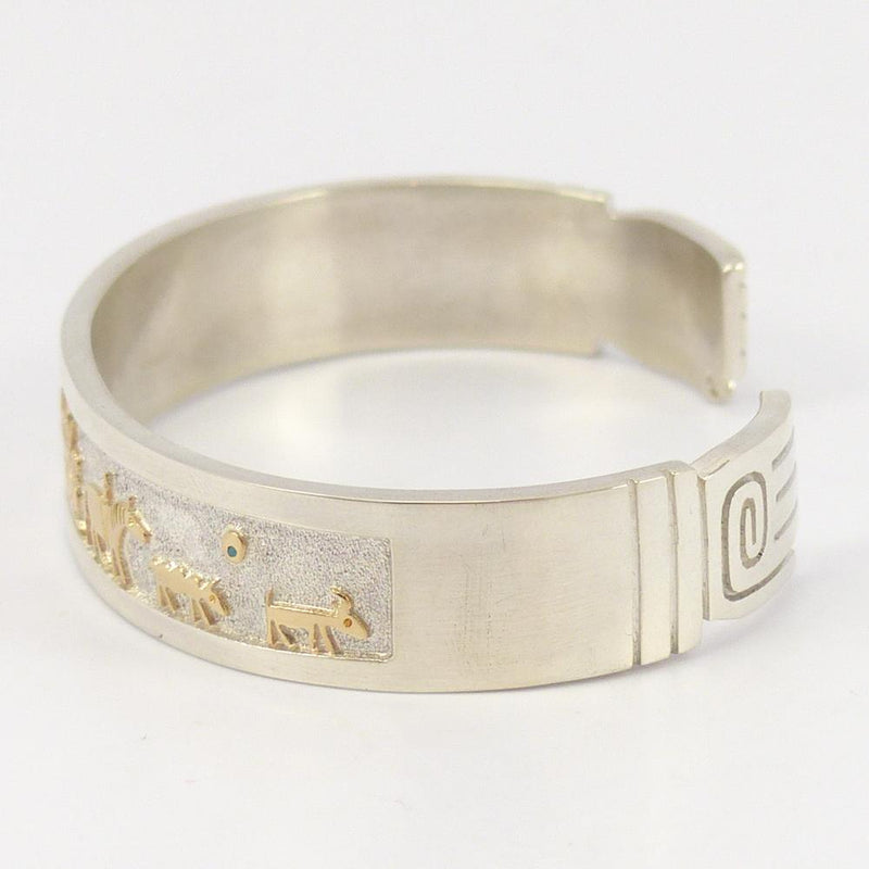 Gold on Silver Storyteller Cuff