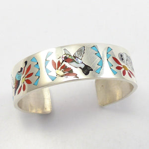 Inlaid Bird Cuff