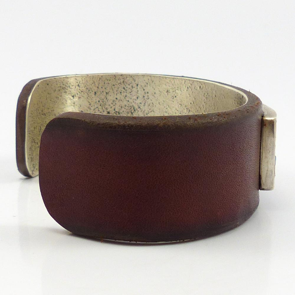 Inlaid Leather Cuff