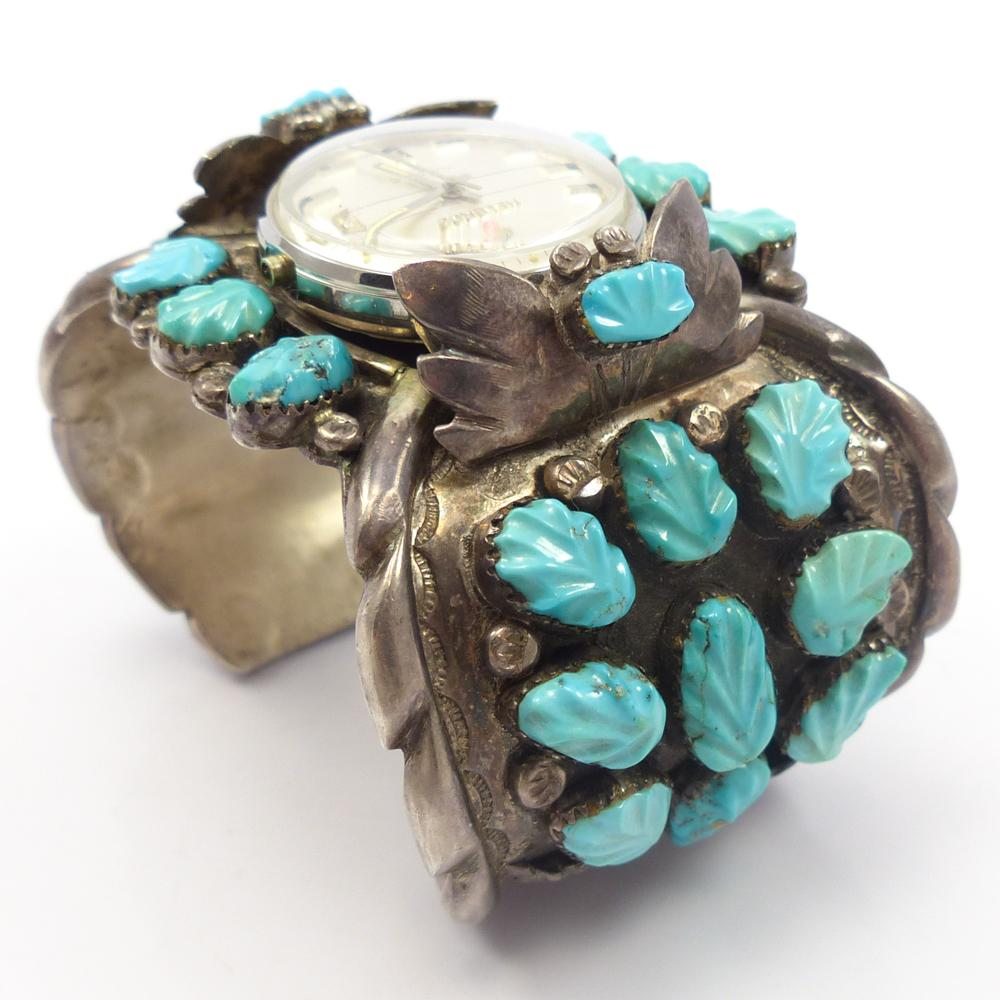 1960s Turquoise Watch Cuff