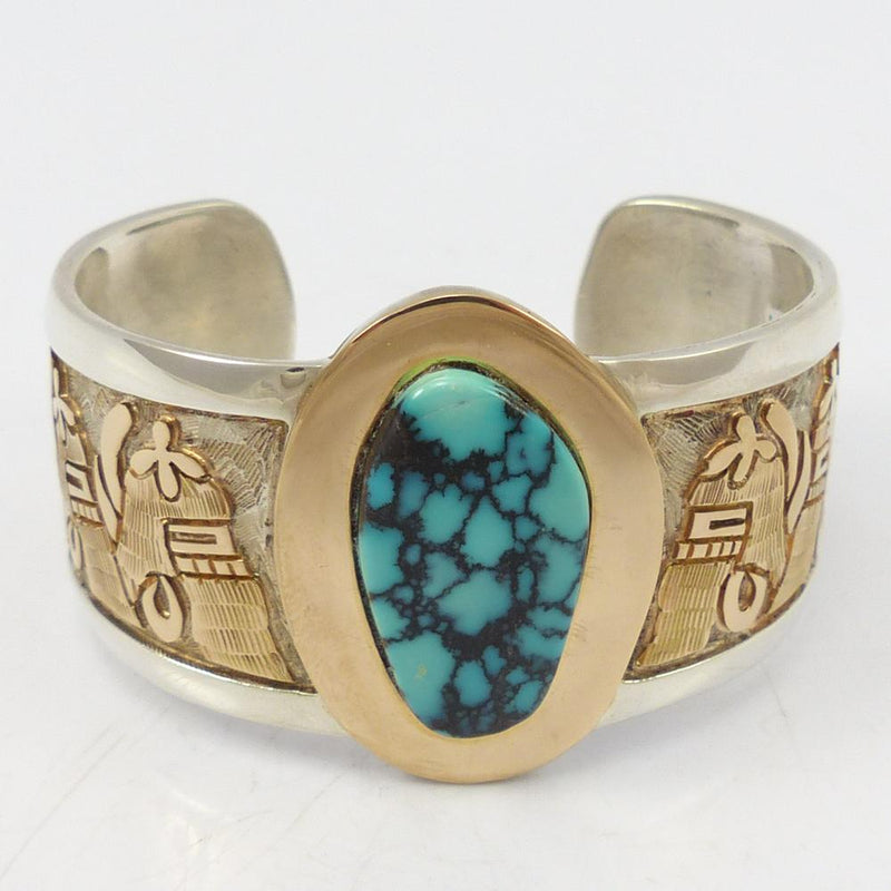 Godber Turquoise and Gold Cuff