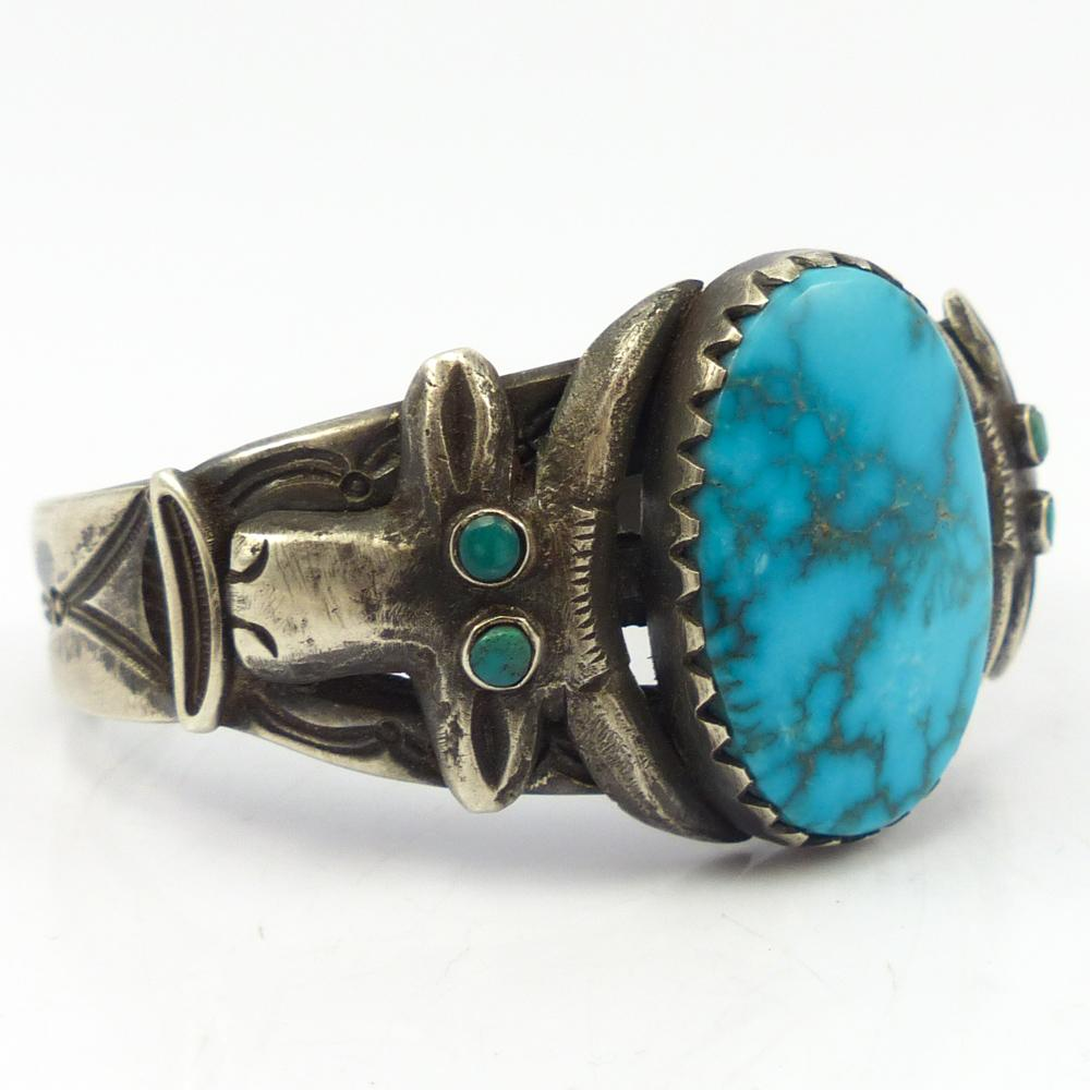 Candelaria Turquoise Bull Cuff