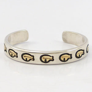 1980s Gold on Silver Cuff