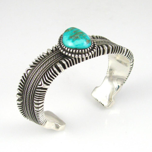 """Twisted"" Turquoise Cuff - Jewelry - Ron Bedonie - 1"