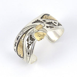 Indian Woman and Feathers Cuff - Jewelry - Sam Gray - 1
