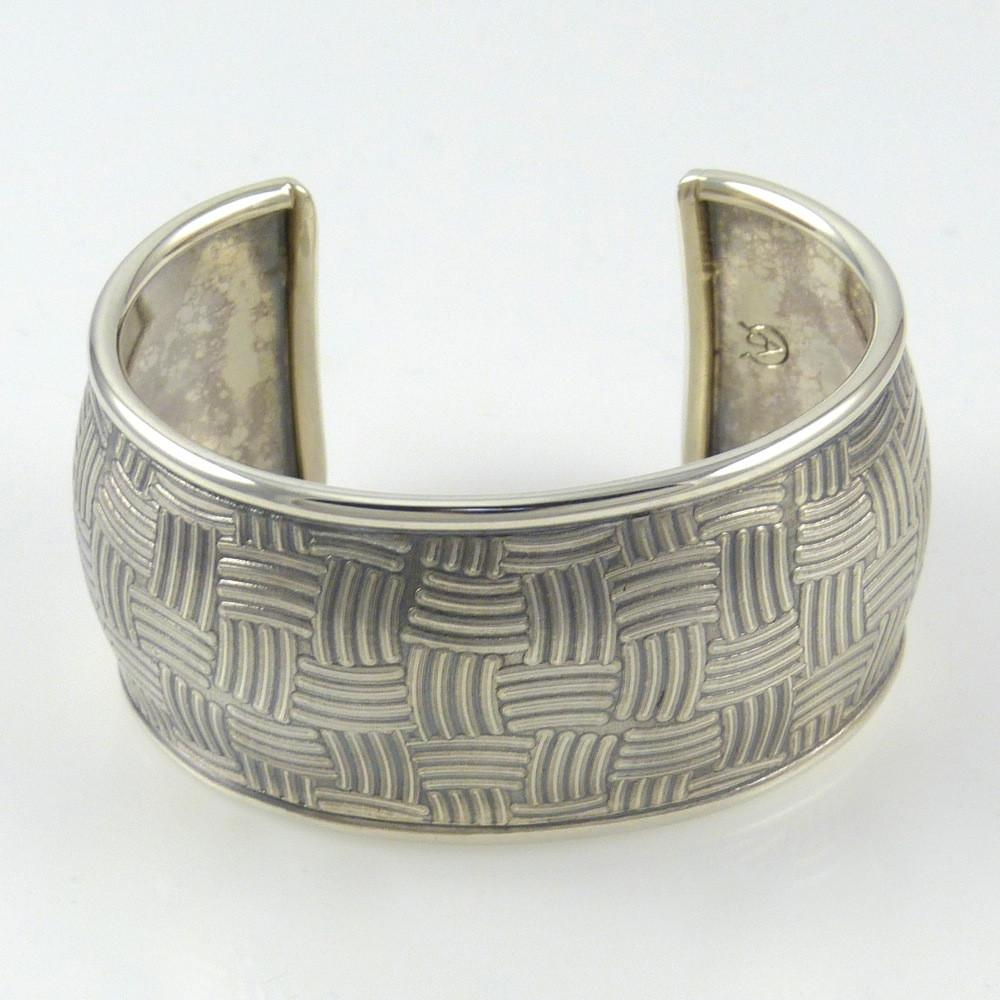 Stamped Silver Cuff - Jewelry - Al Joe - 1