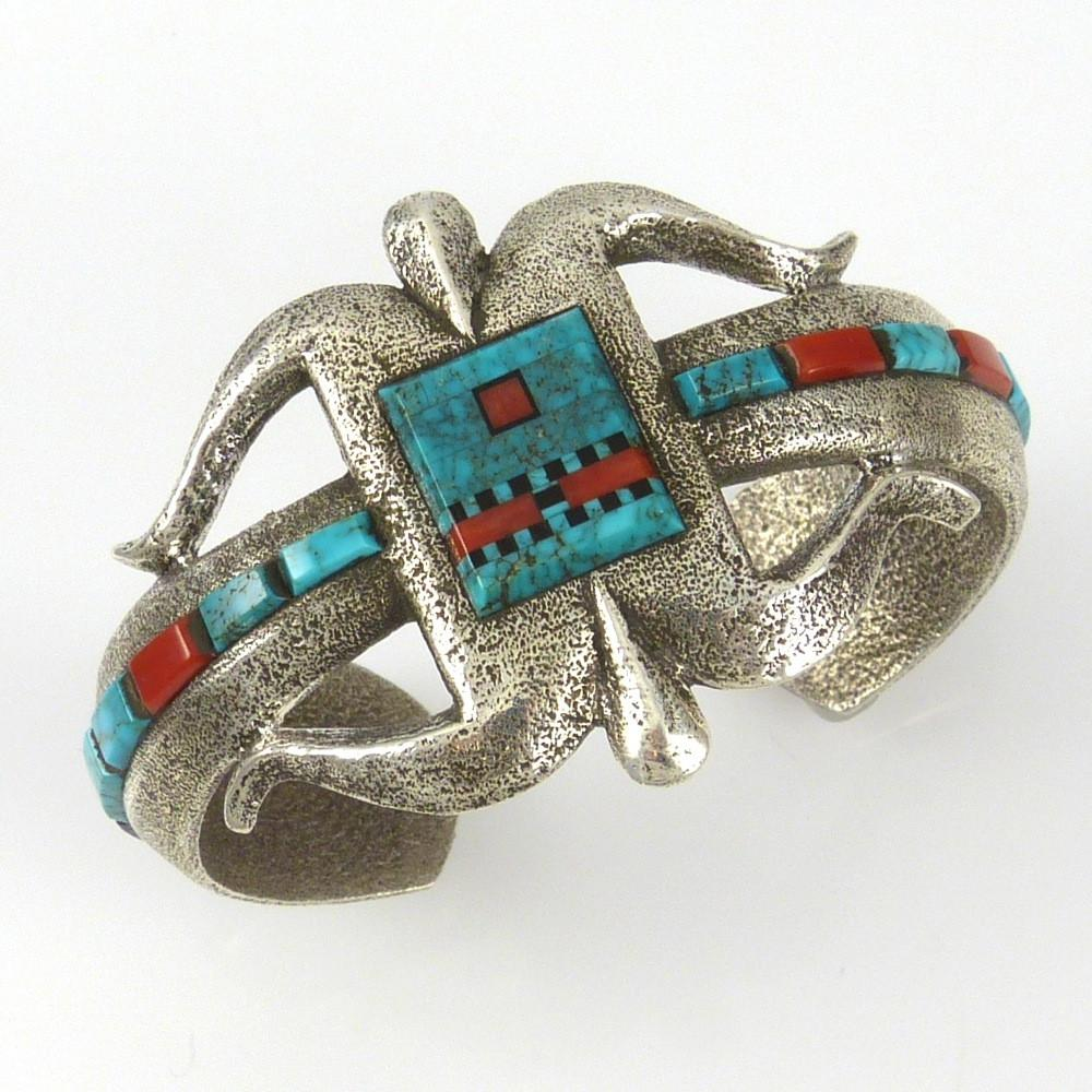Ketoh Cuff with Inlaid Yei Face - Jewelry - Ric Charlie - 1