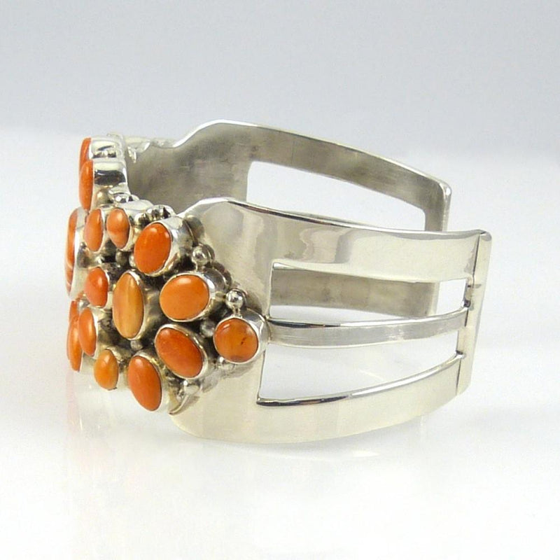 Orange Spiny Oyster Shell Cuff - Jewelry - David and Alice Lister - 4