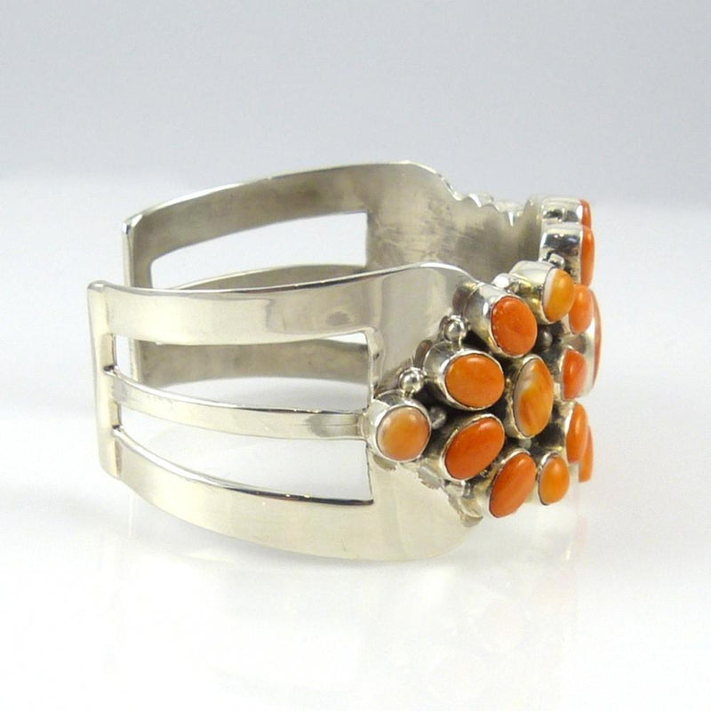 Orange Spiny Oyster Shell Cuff - Jewelry - David and Alice Lister - 3
