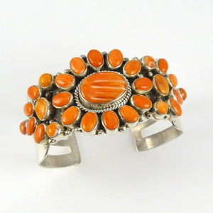 Orange Spiny Oyster Shell Cuff - Jewelry - David and Alice Lister - 1